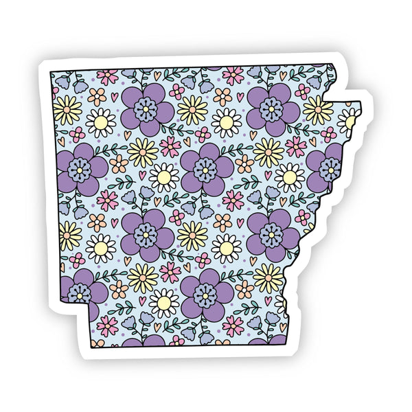 Arkansas Floral Sticker
