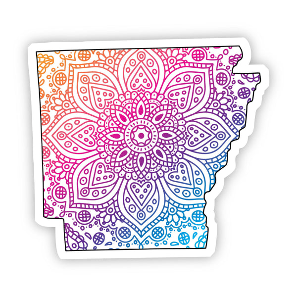 Arkansas Mandala Pattern Sticker