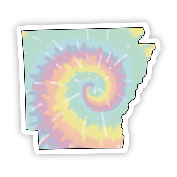 Arkansas Tie Dye Sticker
