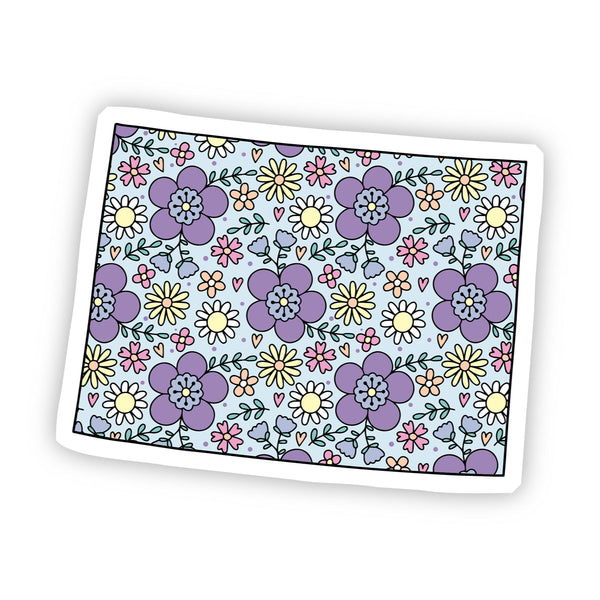 Colorado Floral Sticker