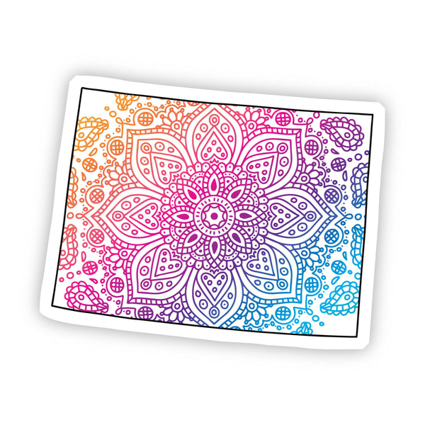 Colorado Mandala Pattern Sticker