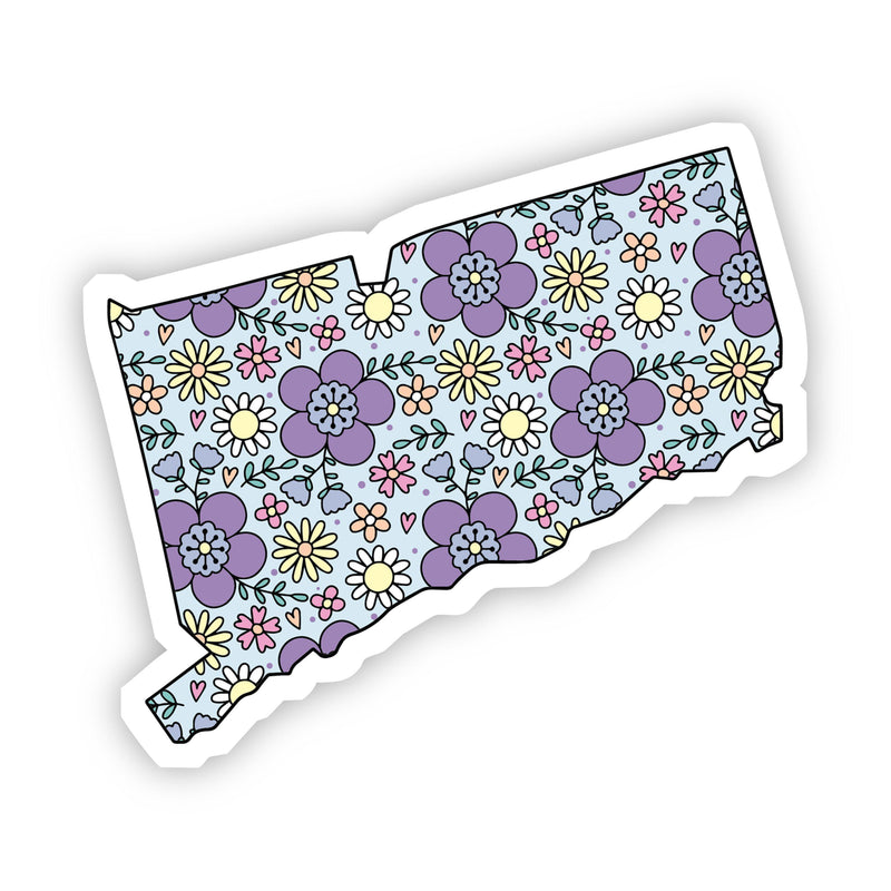 Connecticut Floral Sticker