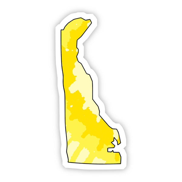 Delaware Yellow Sticker
