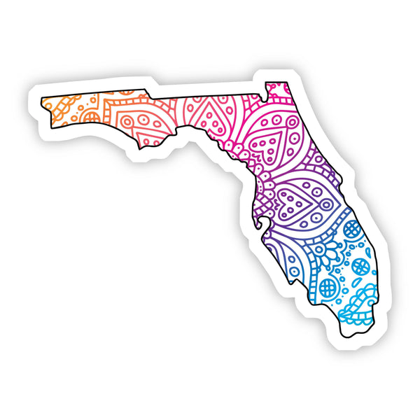 Florida Mandala Pattern Sticker