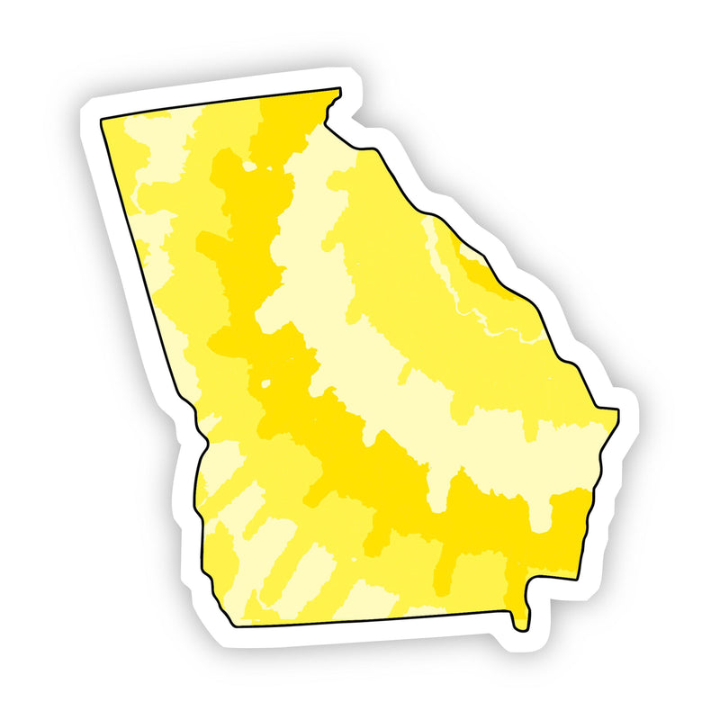 Georgia Yellow Sticker