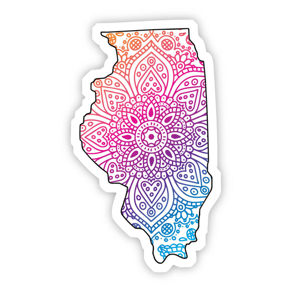 Illinois Mandala Pattern Sticker
