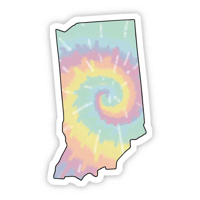 Indiana Tie Dye Sticker