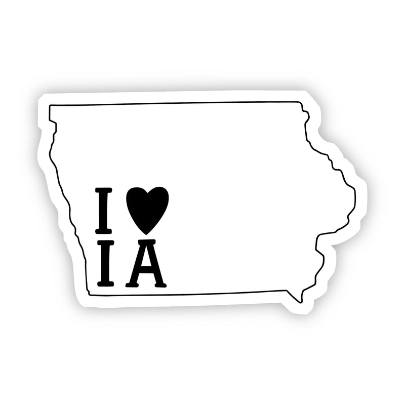 I Love Iowa Sticker