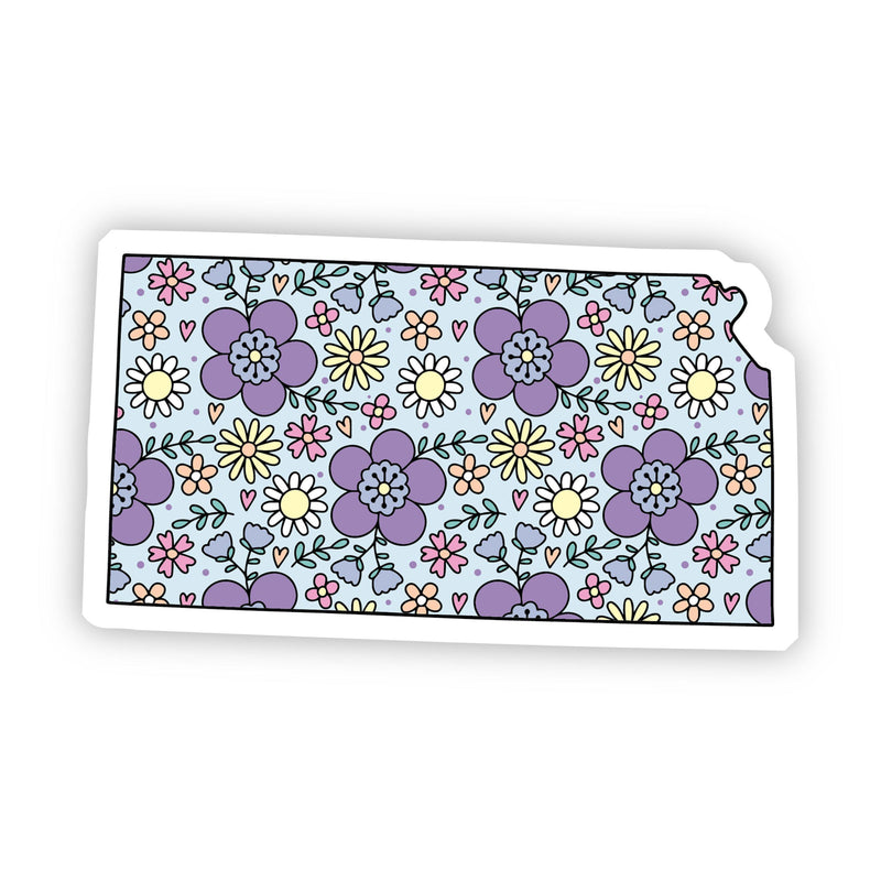 Kansas Floral Sticker