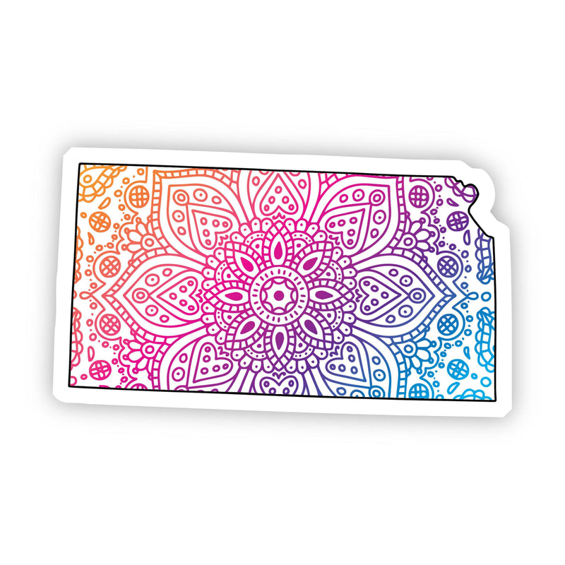 Kansas Mandala Pattern Sticker