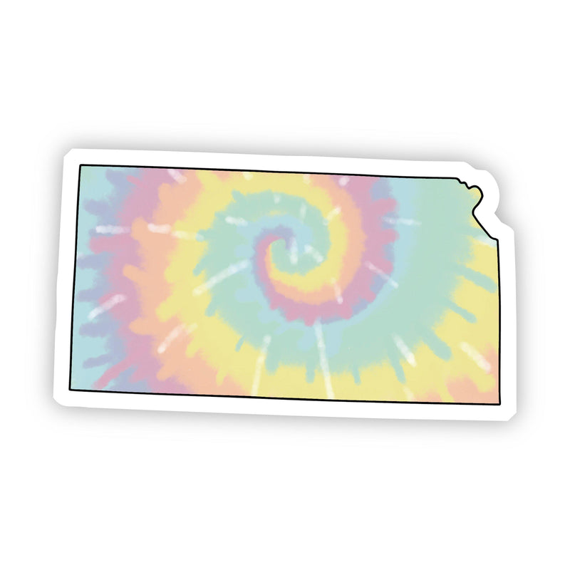 Kansas Tie Dye Sticker