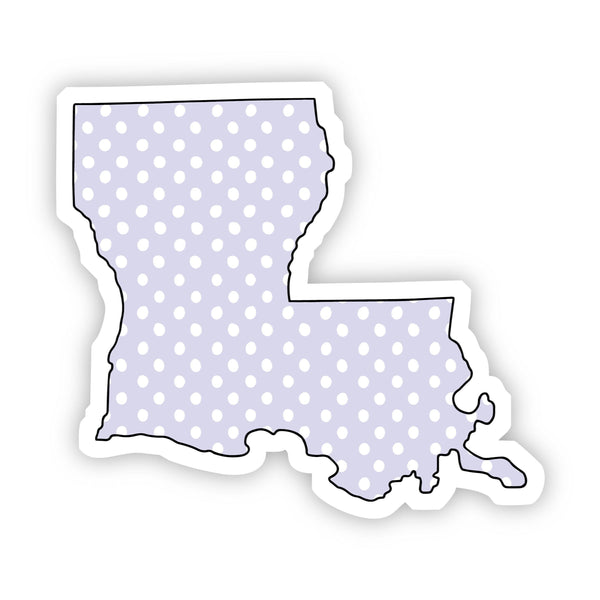 Louisiana Polka Dot Sticker