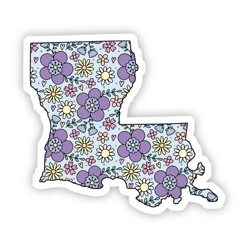 Louisiana Floral Sticker