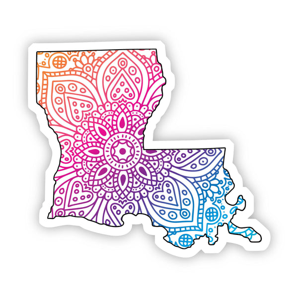 Louisiana Mandala Pattern Sticker
