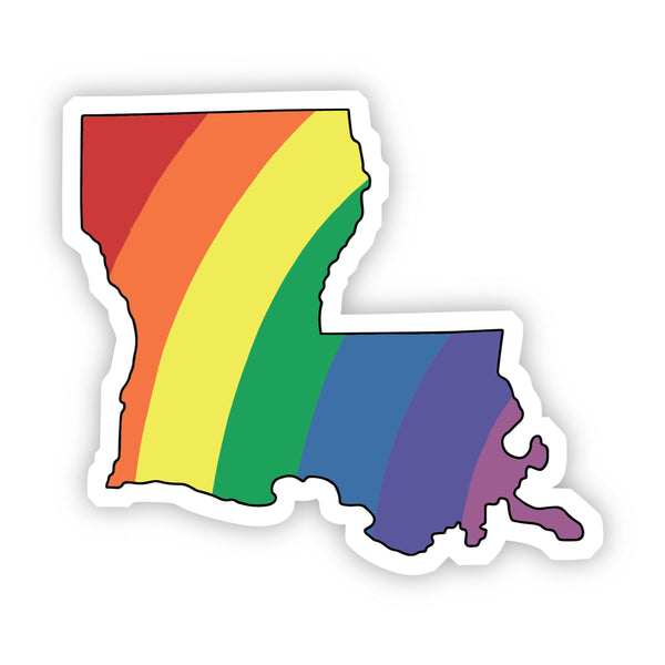 Louisiana Rainbow Sticker