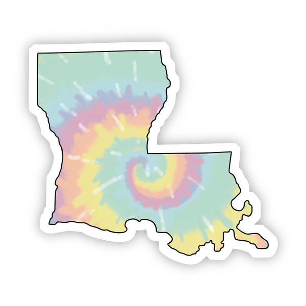 Louisiana Tie Dye Sticker