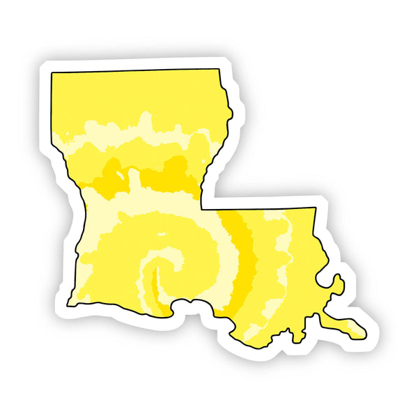 Louisiana Yellow Sticker