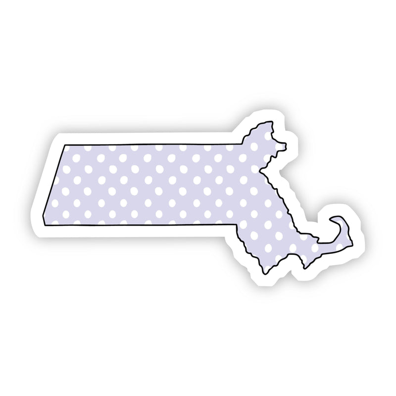 Massachusetts Polka Dot Sticker