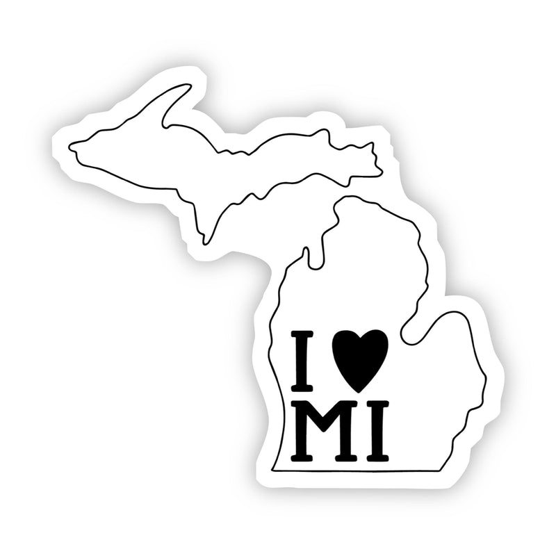 I Love Michigan Sticker
