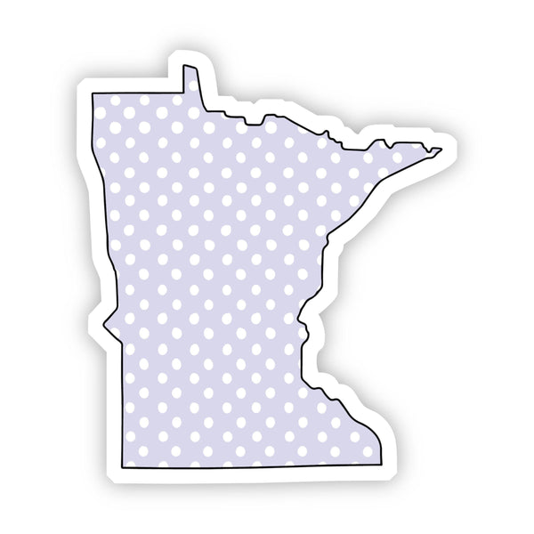 Minnesota Polka Dot Sticker