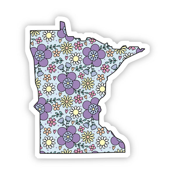 Minnesota Floral Sticker