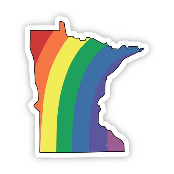 Minnesota Rainbow Sticker