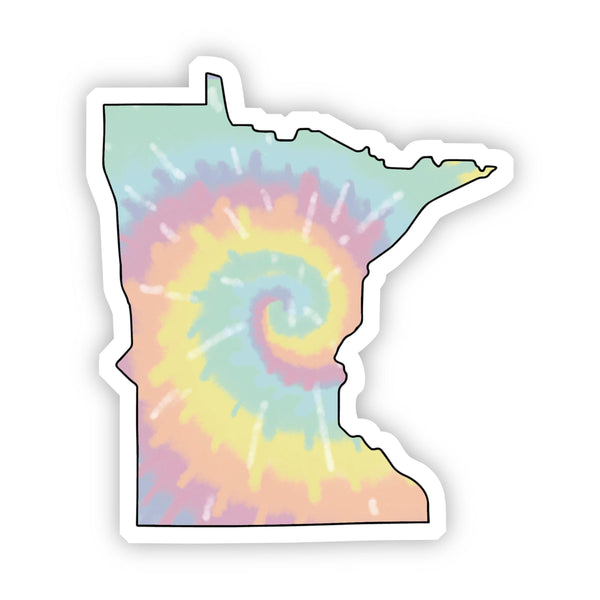 Minnesota Tie Dye Sticker