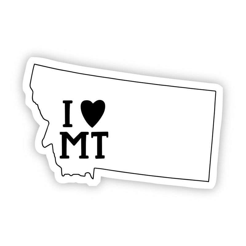I Love Montana Sticker