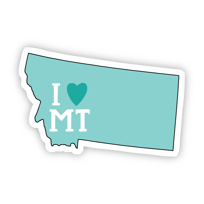 I Love Montana Teal Sticker