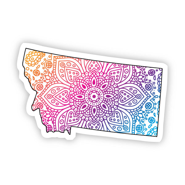 Montana Mandala Pattern Sticker