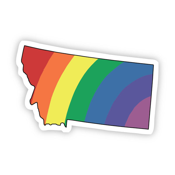 Montana Rainbow Sticker