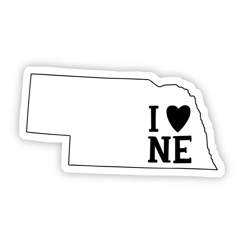 I Love Nebraska Sticker