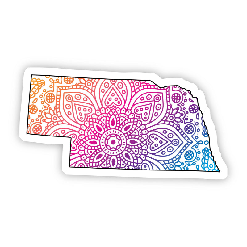 Nebraska Mandala Pattern Sticker