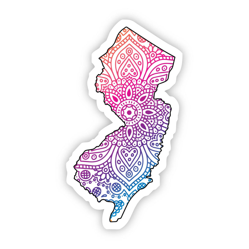 New Jersey Mandala Pattern Sticker