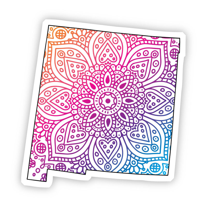 New Mexico Mandala Pattern Sticker
