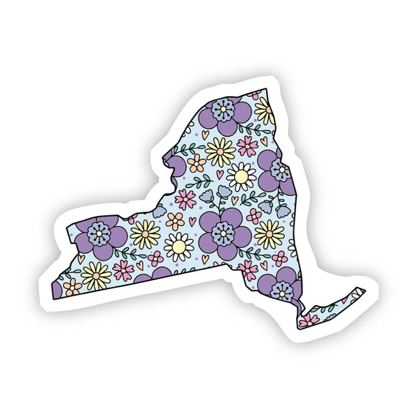 New York Floral Sticker