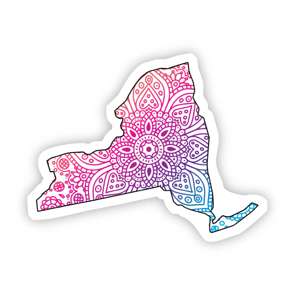 New York Mandala Pattern Sticker