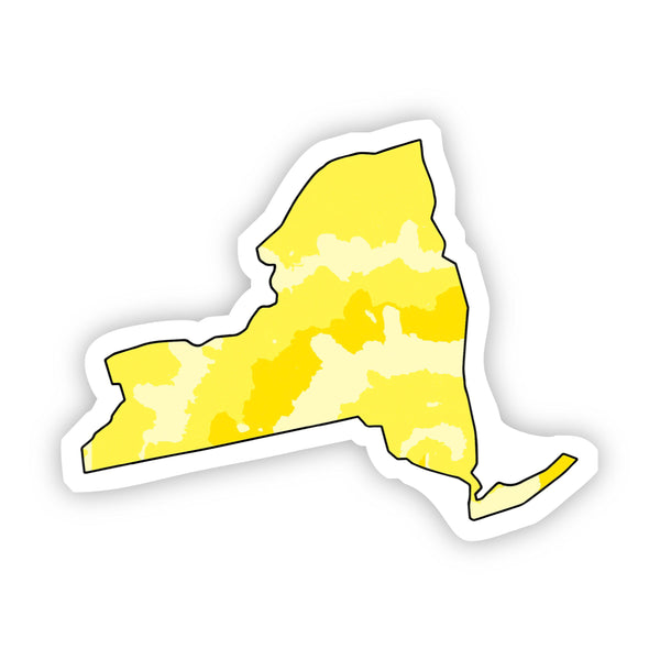 New York Yellow Sticker