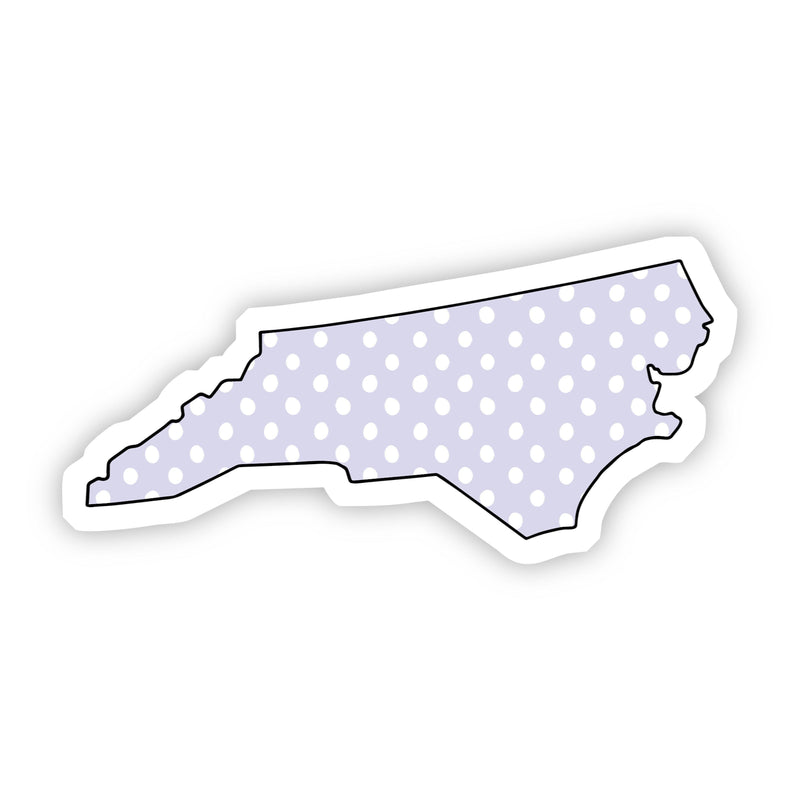 North Carolina Polka Dot Sticker