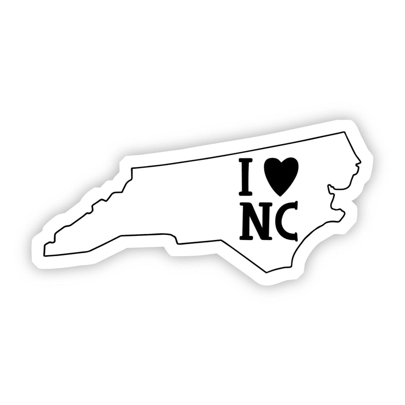 I Love North Carolina Sticker