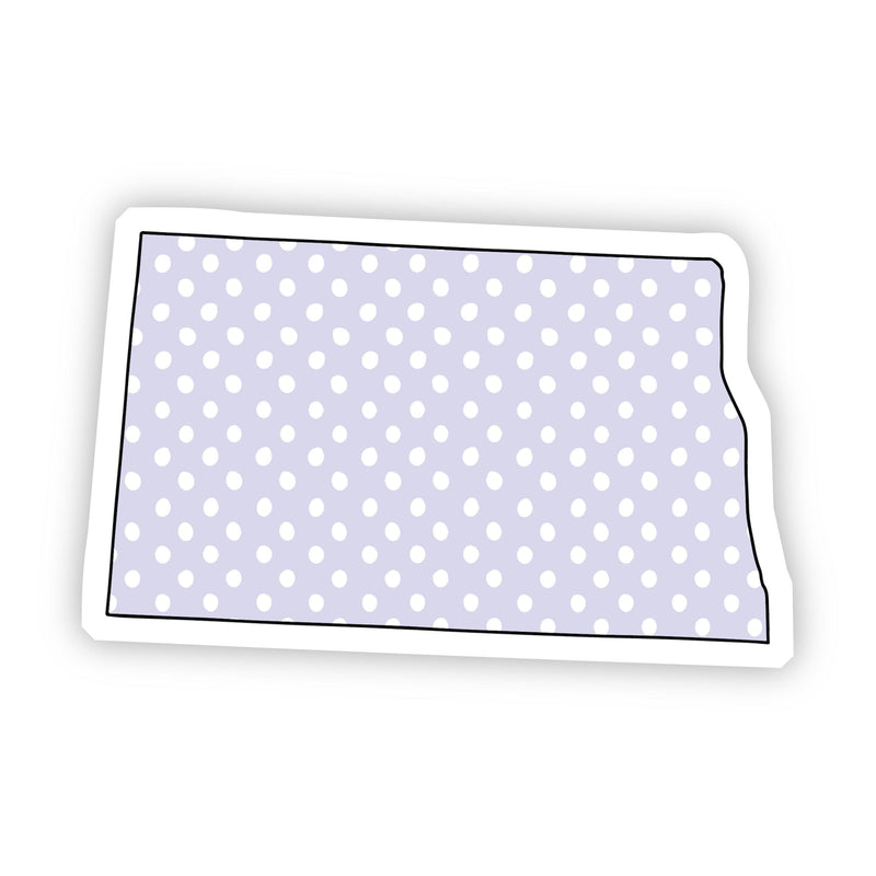 North Dakota Polka Dot Sticker