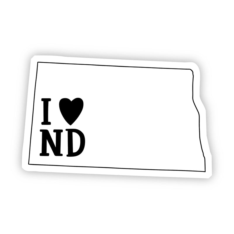I Love North Dakota Sticker