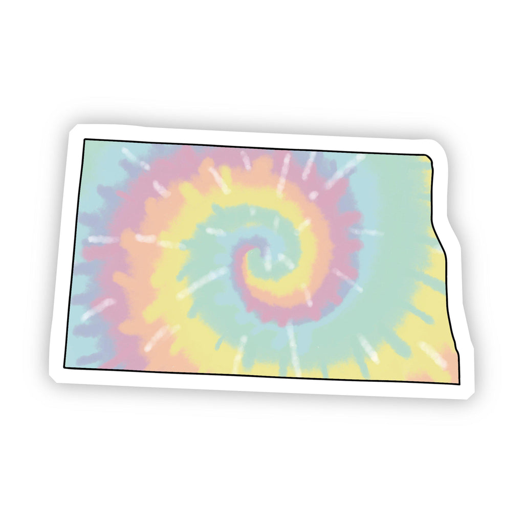 North Dakota Tie Dye Sticker