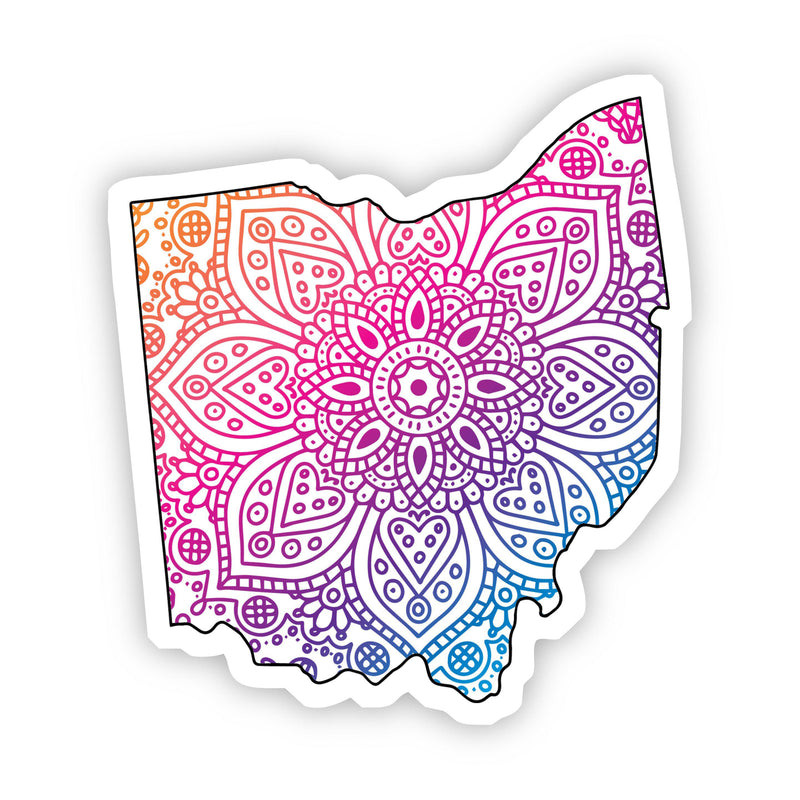 Ohio Mandala Pattern Sticker