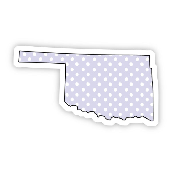Oklahoma Polka Dot Sticker