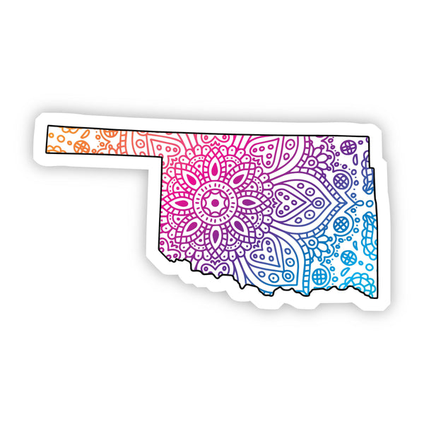 Oklahoma Mandala Pattern Sticker