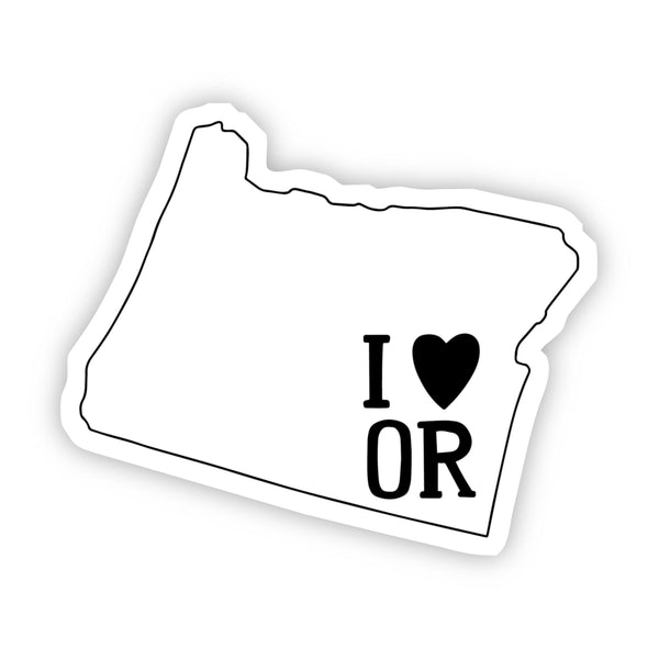 I Love Oregon Sticker