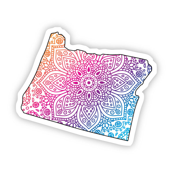 Oregon Mandala Pattern Sticker