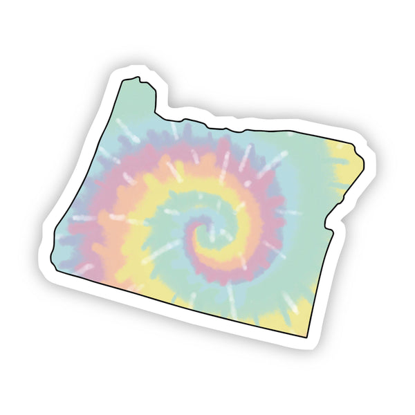 Oregon Tie Dye Sticker