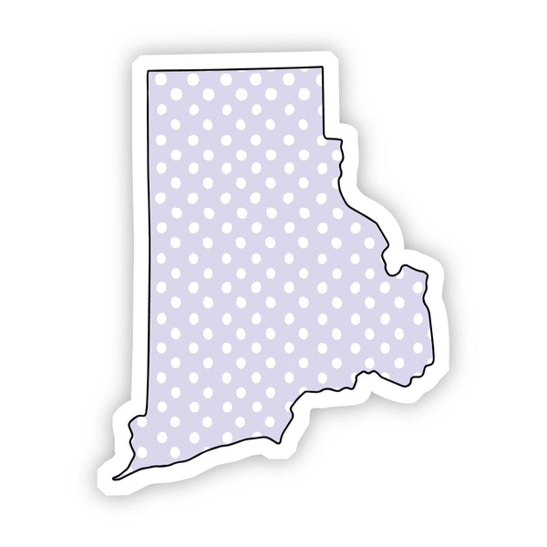 Rhode Island Polka Dot Sticker